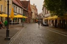 Rainy day in Vilnius Old Town